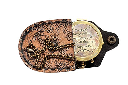 MAH Survival Compass 1 MAH Always Follow Your Heart , Camping Compass Engraved with Gift Compass. C-3121