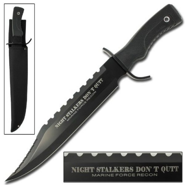 Armory Replicas Fixed Blade Survival Knife 1 Armory Replicas Hunting Outdoor Survivors Bowie Sawback Knife 17 Inches Silver
