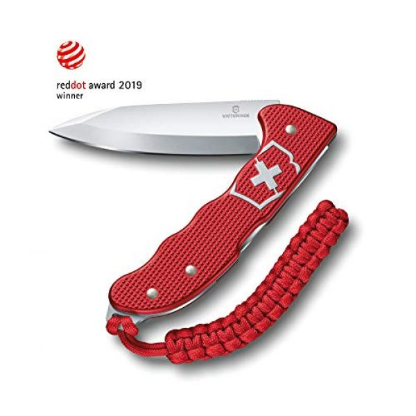 Victorinox Folding Survival Knife 1 Victorinox Hunter Pro M Alox Folding Knife Red Aluminium Handle - Red