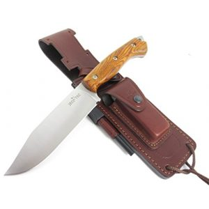 JEO-TEC Fixed Blade Survival Knife 1 JEO-TEC N37 Bushcraft Survival Hunting Camping Knife - Multi-positioned Leather Sheath - Handmade in Spain