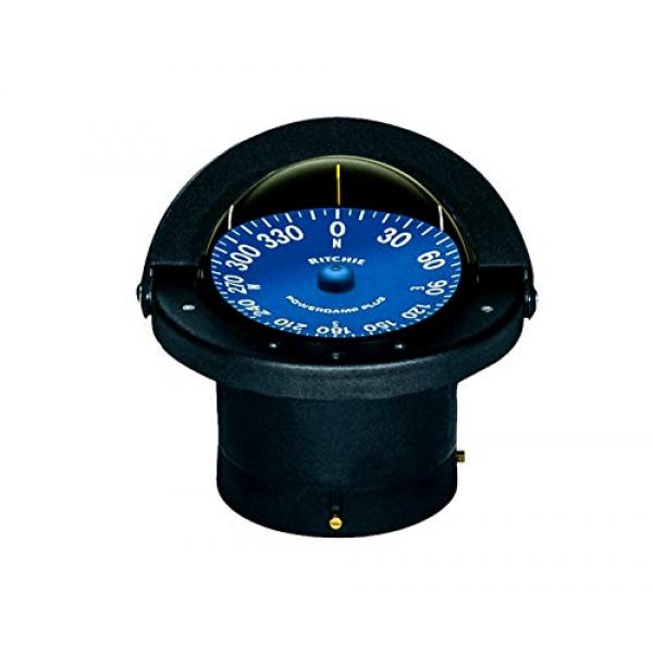 """Ritchie Navigation Survival Compass 1 Compass, Flush Mount, 4.5"""" Dial, Black"""