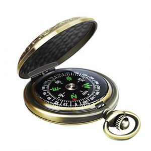 Leabertee  1 Leabertee Multifunctional Zinc Alloy Classic Compass for Hiking