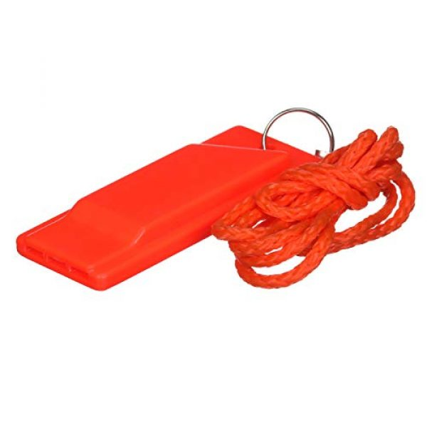 attwood Survival Whistle 1 Attwood 11829-6 Safety Whistle, Plastic, Flat Type, No Interior Ball, Delivers Emergency Signal, Includes Lanyard