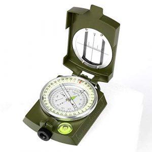 YEHOBU Survival Compass 1 YEHOBU Hiking Compass, Military Compass, Multifunctional Lensatic Compass, Waterproof Navigation Compasses, Survival Emergency Luminous Sighting Compass