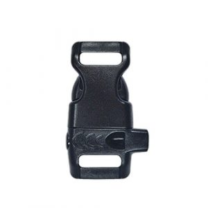PARACORD PLANET  1 PARACORD PLANET Plastic Side-Release Emergency Whistle Buckle - 1/2 Inch - Black