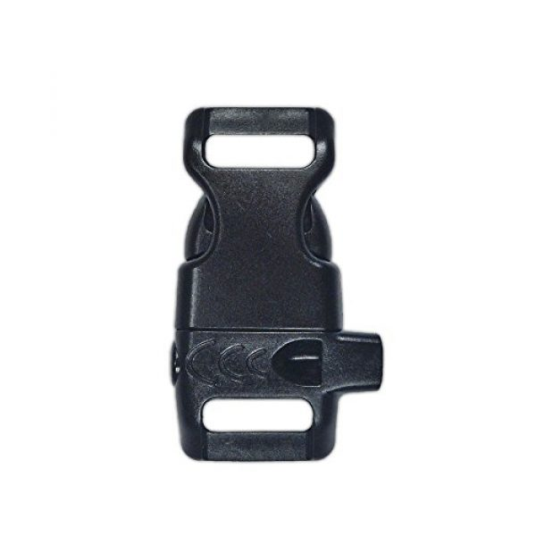 PARACORD PLANET Survival Buckle 1 PARACORD PLANET Plastic Side-Release Emergency Whistle Buckle - 1/2 Inch - Black