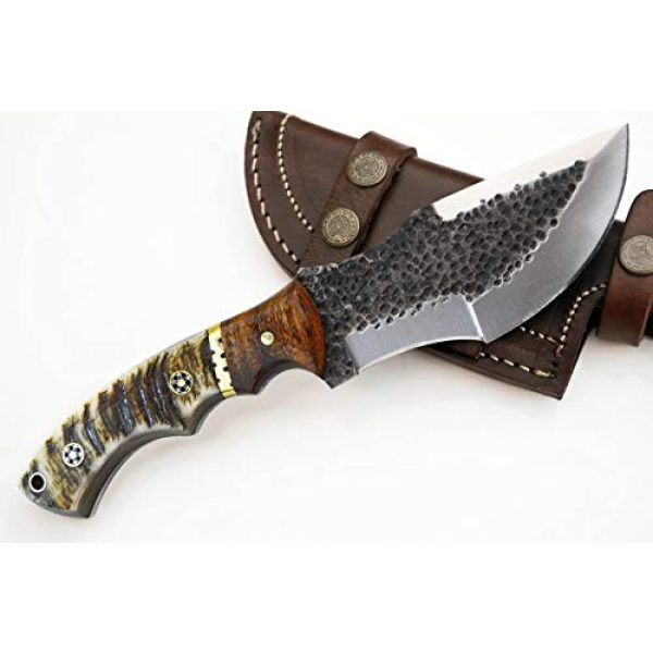 Whole Earth Supply Fixed Blade Survival Knife 1 Whole Earth Supply D2 Tracker Hunting Knife Large Knives Survival Skinning Hammered Sheath Steel