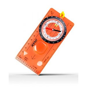 AOFAR Survival Compass 1 AOFAR AF-5C Orienteering Compass for Hiking, Boy Scout Compass for Kids - Professional Field Compass for Map Reading,Navigation and Survival Lightweight - Mini Camping Compass