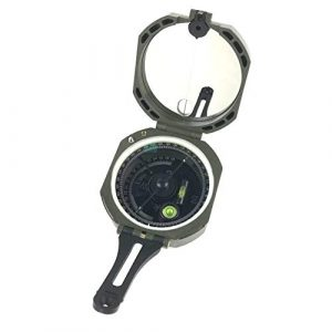 DETUCK  2 DETUCK(TM Professional Geological Compass Lensatic Military Compass | Survival Orienteering Sighting Compass with Mirror | Navigation Pocket Compass for Hiking Camping Outdoors