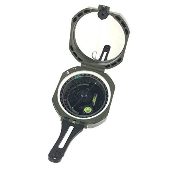 DETUCK Survival Compass 2 DETUCK(TM Professional Geological Compass Lensatic Military Compass | Survival Orienteering Sighting Compass with Mirror | Navigation Pocket Compass for Hiking Camping Outdoors