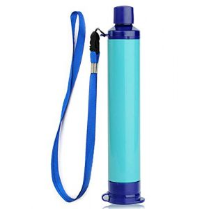 Reach Star Survival Water Filter 1 Reach Star Water Filter Straw Camping Water Purification Portable Water Filter Survival Kit for Camping Hiking Emergency Hurricane Blue 1pack