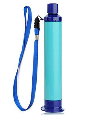 Reach Star  1 Reach Star Water Filter Straw Camping Water Purification Portable Water Filter Survival Kit for Camping Hiking Emergency Hurricane Blue 1pack