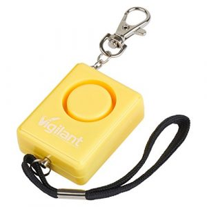 Vigilant Personal Protection Systems  1 135dB Personal Alarm for Panic/Rape/Emergency Self Defense by Vigilant with Backpack/Keychain Key Ring Chain Clip and Help Cord Rip Cord Emergency Activation (PPS-42)