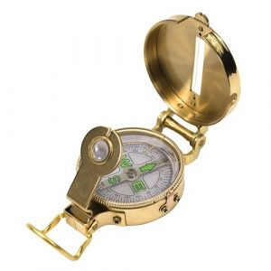 UST  1 UST Heritage Lensatic Compass with Lightweight Brass Construction for Camping