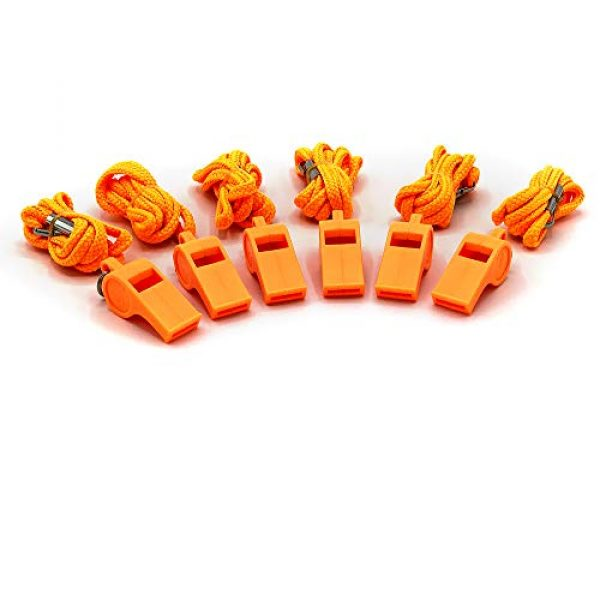 American Whistle Corporation Survival Whistle 1 American Whistle Corporation Orange Safety Whistles - Emergency Safety Whistles for Women, Men, and Kids