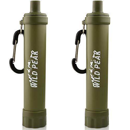 Wild Peak  1 Wild Peak Stay Alive-2 Outdoor Activated Carbon 4000 Liter Water Filter Emergency Straw with Compass