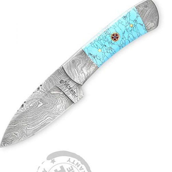 Perkin Fixed Blade Survival Knife 1 Perkin Handmade Damascus Steel Hunting Knife