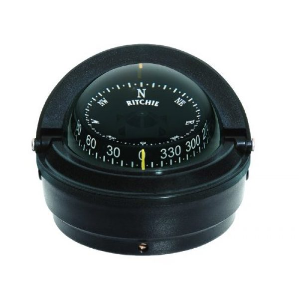 Ritchie Navigation Survival Compass 1 Ritchie S-87 Voyager Compass with Surface Mount and 12V Green Night Light (Black, 3-Inch)
