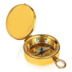 The Great Indian Bazaar  1 Unique Birthday Gift Ideas Solid Brass Classic Pocket Size Camping Compass 1.75 Inch Hiking Climbing Biking Hunting Survival Compass Outdoor Navigation Directional Nautical Compass Gifts For Kids