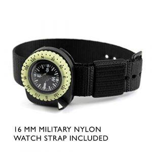 Marathon  2 Marathon Watch Clip-On Wrist Compass with Glow in The Dark Bezel. Northern Hemisphere Version - CO194005