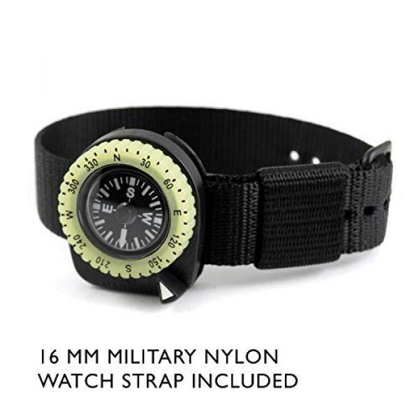 Marathon Survival Compass 9 Marathon Watch Clip-On Wrist Compass with Glow in The Dark Bezel. Northern Hemisphere Version - CO194005