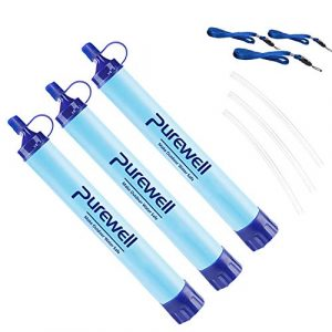 Purewell  1 Purewell Outdoor Water Filter Personal Water Filtration Straw Emergency Survival Gear Water Purifier for Camping Hiking Climbing Backpacking