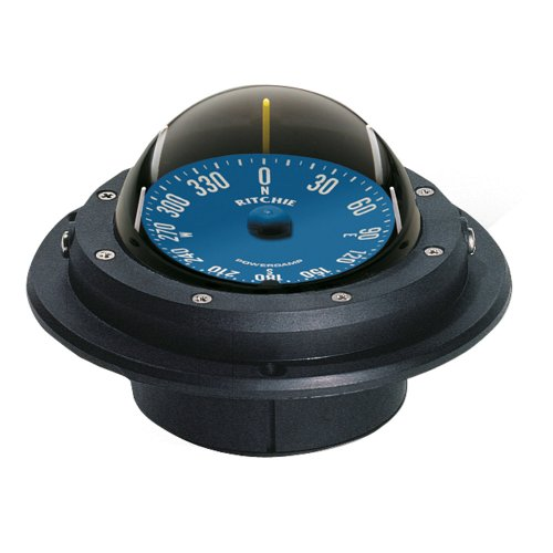 """Boating Accessories  1 Boating Accessories New Voyager Racing Compass Ritchie Navigation Ru-90 Flush 4-1/8"""" Hole Black Light No"""