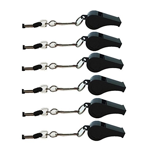 Biowow  1 Biowow 6pcs Sport Coach Emergency Loud Whistles Sifflement with Lanyard