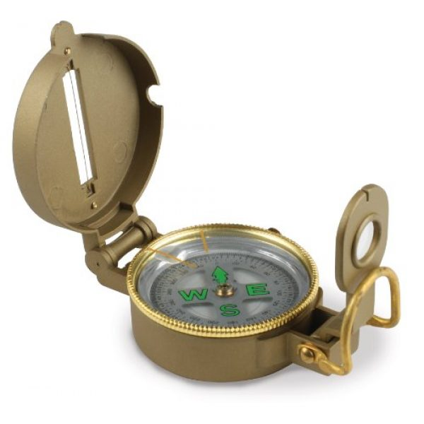 Stansport Survival Compass 1 Stansport Liquid Filled Metal Lensatic Compass