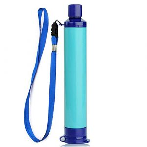 ROOCHL Survival Water Filter 1 ROOCHL Straw Water Filter,Survival Filtration Portable Gear,Emergency Preparedness,Supply for Drinking Hiking Camping Travel Hunting Fishing Team Family Outing