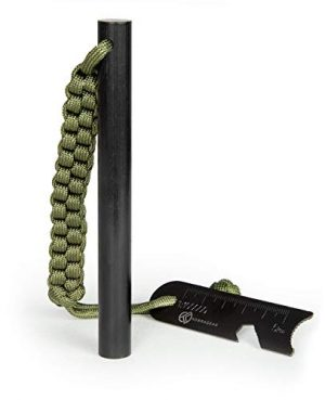 KobraGear  1 KobraGear Emergency Magnesium Fire Starter Ferrocerium Ferro Rod 5 inch x ½ inch with Survival Paracord Lanyard and Steel Multitool Striker