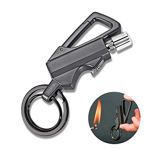yusud  1 YUSUD Keychain Multitool with Flint Metal Matchstick Fire Starter and Bottle Opener