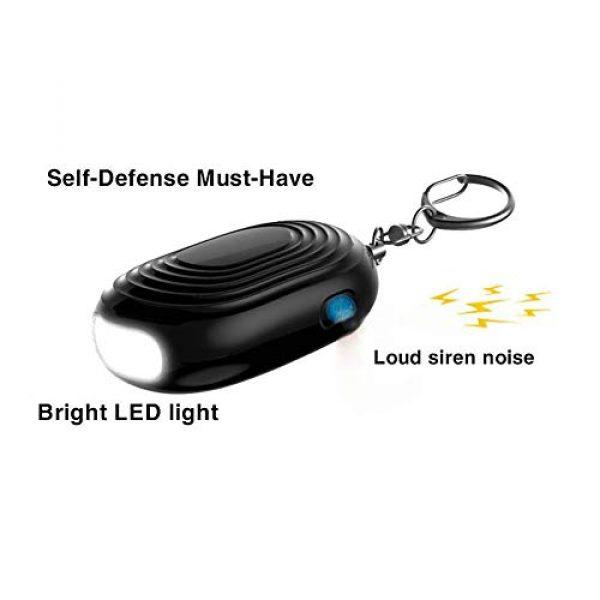 VKYSINKO Survival Flashlight 1 VKYSINKO Safe Personal Alarm,Tactical Flashlights LED Flash Light 130db Personal Alarm Keychain, Emergency Self-Defense for Women Kids and Elders
