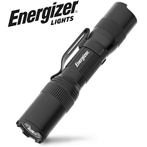 Energizer Survival Flashlight 1 ENERGIZER LED Tactical Flashlight, IPX4 Water Resistant, Super Bright, Heavy Duty Metal Body, Built For Camping, Outdoors, Emergency, Batteries Included