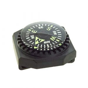 Sun Company  1 Sun Company Slip-On Wrist Compass - Easy-to-Read Compass for Watch Band or Paracord Survival Bracelet