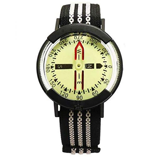 Kakuru Survival Compass 1 Kakuru Survival Fist Aid Wrist Compass, High Accuracy IP67 Waterproof Dustproof Luminous Watch Compass for Diving Hiking Outdoor Activities