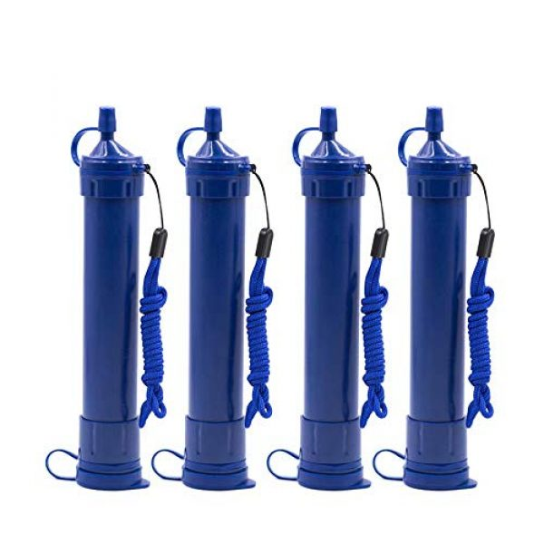 gusuqing Survival Water Filter 1 gusuqing Water Filter Straw - Small Portable Reusable Purifier with Charcoal Filtration System - Water Purifier for Outdoor Hiking,Hunting, Travel and Emergency