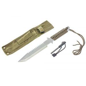"""SE Fixed Blade Survival Knife 1 SE 11"""" Full Tang Knife with Firestarter - KHK6280"""