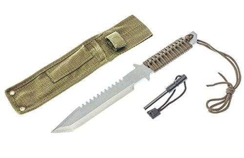 """SE  1 SE 11"""" Full Tang Knife with Firestarter - KHK6280"""