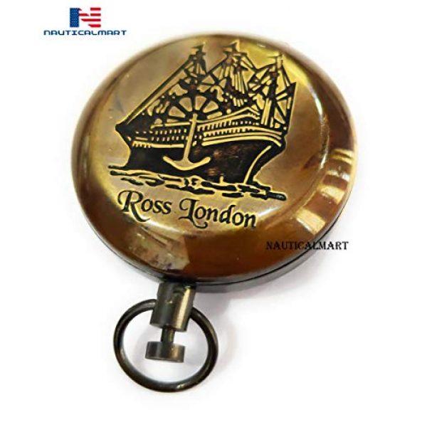NauticalMart Survival Compass 1 Brass Compass Nautical Collectible Antique Engraving Rose London Gift for Boyfriend Father,Wedding Favor-Best Men -Valentine's Day