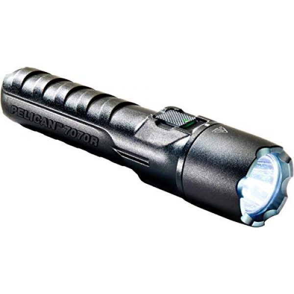 Pelican Survival Flashlight 1 Pelican 7070R Rechargeable Tactical LED Flashlight (Black)