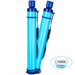 DOTSOG  1 DOTSOG 2 Pack Personal Water Filter Straw BPA Free with 1000L 3-Stage