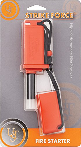 UST  1 UST StrikeForce Fire Starter with Durable Construction and Lanyard for Camping