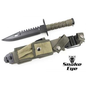 Snake Eye Tactical Fixed Blade Survival Knife 3 Snake Eye Tactical M9 Bayonet Military Knife