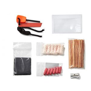 Off Grid Tools Survival Fire Starter 1 OFF GRID TOOLS Mini Fire B.O.S.S.Bug Out Bag Fire Starting Survival Kit. 21 Piece Fire Starting Kit