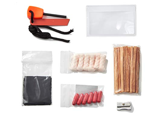 Off Grid Tools  1 OFF GRID TOOLS Mini Fire B.O.S.S.Bug Out Bag Fire Starting Survival Kit. 21 Piece Fire Starting Kit