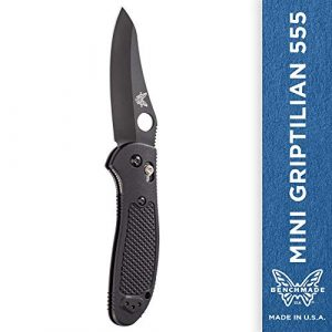 Benchmade  1 Benchmade Pardue Mini-griptilian 530v Steel Blade Knife - 555bk-s30v Black Coate