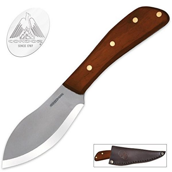 Condor Tool & Knife Fixed Blade Survival Knife 1 Condor Tool and Knife Nessmuk Knife, Wood Handle, Leather Sheath