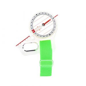 Dioche Survival Compass 1 Dioche Mini Map Compass, Lightweight Pocket Size Acrylic Map Ruler Mapping Compass Tool for Outdoor Camping Hiking