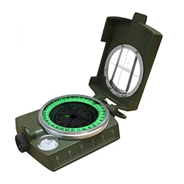 Banne Survival Compass 1 Banne Compass, Waterproof Military Compass,Camping Compass Fluorescent Pointer Compass(Army Green)